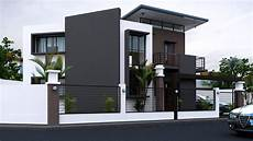 black white house with stunning interior home design