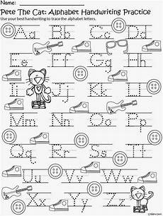 letter a writing worksheets for preschoolers 23682 free pete the cat writing practice preschool writing kindergarten writing pete the cat