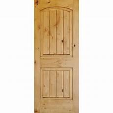 krosswood doors 30 in x 96 in knotty alder 2 panel top