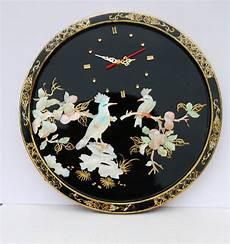 beautiful wall clock handmade black lacquer