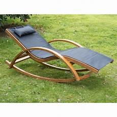 outsunny wooden garden recliner rocker lounger ideal