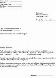 comment contester une amende de stationnement mod 232 le de lettre de contestation amende sncf