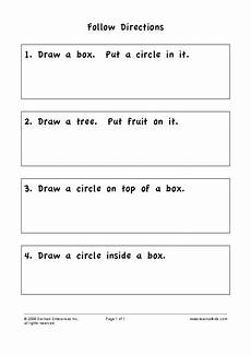 following directions worksheets second grade 11769 follow directions worksheet for 2nd grade lesson planet