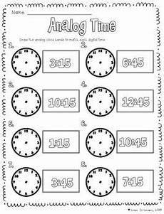 telling time math unit second grade math math
