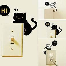 2pcs removable cartoon home light switch funny wall decal vinyl wall stickers ebay