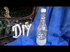 flaschenle selber machen diy bastelidee deko flasche mit spitze ranke selber