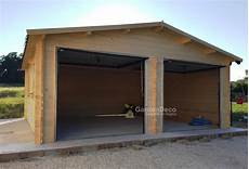 box per auto in legno garage in legno 6x6m per auto da giardino gardendeco