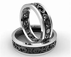 17 new black wedding rings for him and