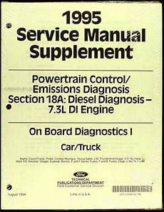 vehicle repair manual 1995 ford econoline e250 security system 1994 1995 ford 7 3l idi diesel owner s manual original f250 f350 e350