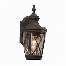allen roth castine 14 41 in h rubbed bronze outdoor wall light wall lights nautical outdoor
