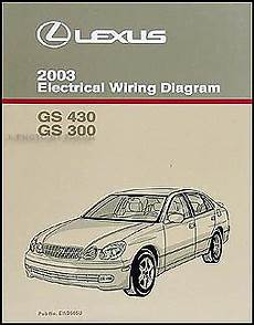 book repair manual 2010 lexus is auto manual 2003 lexus gs 300 430 electrical wiring diagram manual gs300 gs430 original book ebay