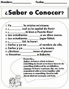 worksheets on saber and conocer 18418 saber vs conocer worksheet this is a great practice once students been introduced