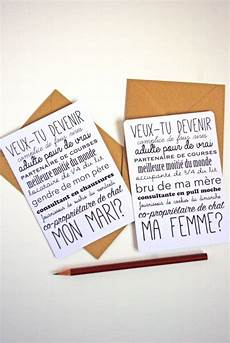 demande mariage originale diy valentin carte postale demande en mariage
