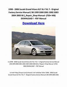 car repair manuals online free 2004 suzuki xl 7 electronic throttle control where to download service manuals for your vehicles