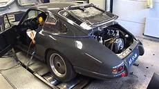 porsche 911 st 1968 custom grey dyno run at beek auto