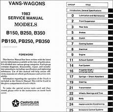 auto manual repair 1994 dodge ram wagon b250 electronic throttle control 1983 ram van voyager shop manual 83 dodge b150 b250 b350 plymouth pb150 pb350 ebay