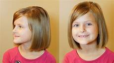 how to do a bob cut short hair tutorial girls haircuts youtube