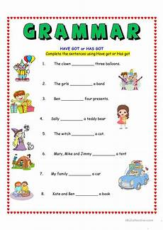 have got or has got worksheet free esl printable worksheets made by teachers