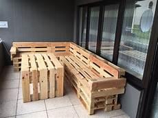 palettenmöbel garten bauanleitung balkon ideen europalette balkon gestalten modern das