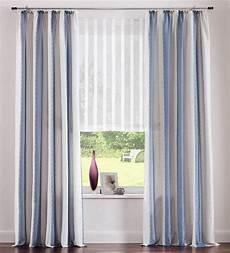 Vorhänge Blau Weiß - 2 st vorhang gardine 140 x 245 blau grau wei 223 streifen