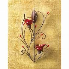ruby blossom tealight candle holder wall sconce decor 13923 ebay