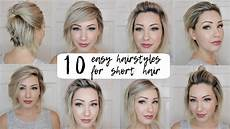 10 easy hairstyles short hair youtube