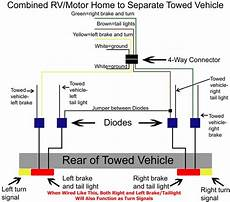 diagram showing how to wire taillight diode kit like a 2 wire system etrailer com