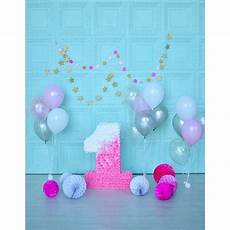 5x7ft Baby Happy Birthday Photography Backdrop by 5x7ft Color Wall Baby Shower Balloons Happy 1st
