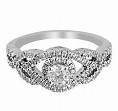 7738 white gold round halo set diamond engagement w030 v01