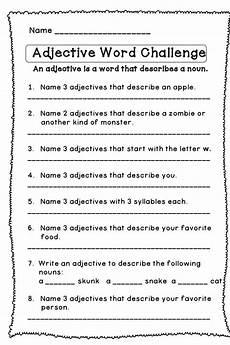 grammar worksheets adjectives 24698 adjective word challenge adjective words word challenge teaching grammar