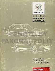 car repair manuals online pdf 1989 buick electra engine control 1989 buick lesabre electra park avenue repair shop manual original