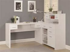 home office furniture white 7028 white l shaped home office desk from monarch i 7028