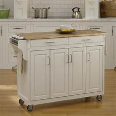 shop home styles 48 75 in l x 17 75 in w x 34 75 in h white kitchen island with casters at lowes com