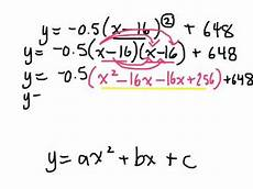 converting quadratic relations from vertex form to standard form 5 5 gr 10 academic 11 20 14