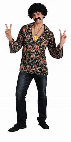Cool Hippy Groovy Style Flower Power Shirt With Peace