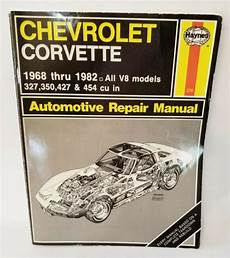 car repair manuals download 2010 chevrolet corvette on board diagnostic system haynes repair manual chevrolet corvette 1968 1982 auto ebay