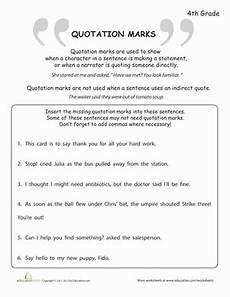 dialogue punctuation worksheet 4th grade 20954 what are quotation marks quotation marks quotations grade writing