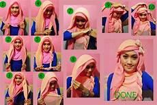 Contoh Model Kreasi Jilbab Segi Empat 2 Lapis