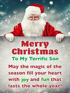 fun merry christmas card for son birthday greeting cards by davia