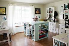 brook s craft room interior with turquoise accents