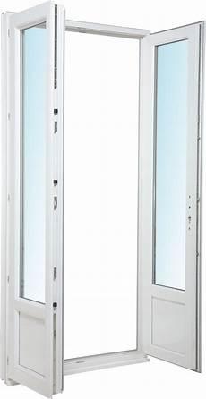 porte fen 234 tre pvc 2 vantaux h205xl120cm bricoman