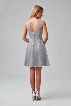 short sleeveless metallic lace bridesmaids dress f18031m