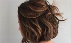 ombre frisuren 2019 kurze haare stylen balayage und