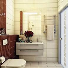 bathroom colour blocking brown and beige design