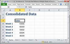3d references formulas that reference multiple sheets at once in excel teachexcel com