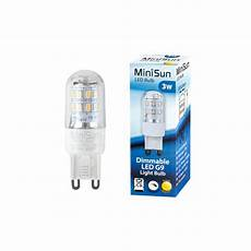 dimmable 3 watt smd g9 led capsule bulb warm white