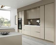 7 piece kitchen units warm grey handless kitchen rigid built doors fitted ebay