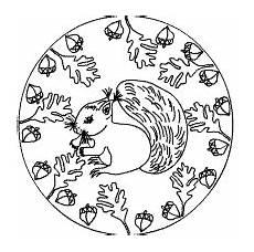 Ausmalbilder Herbst Mandala Kostenlos Eichh 246 Rnchen Mandalas Ausmalbilder F 252 R Kinder