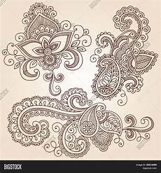 drawn henna vector photo free trial bigstock