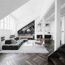 homedesigning via 30 black white living rooms